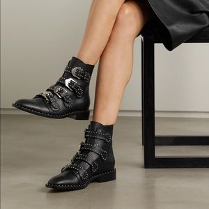 Givenchy Elegant studded buckle ankle boots size 8